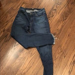 Great Paige jeans with distressed bottom